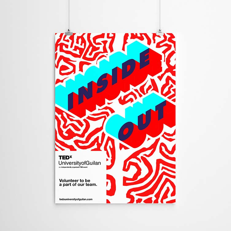 Tedxuniversityofguilan Visual Identity by Nima Rahimiha & Mohammad Hossein Naghibi is Winner in Graphics and Visual Communication Design Category, 2017 - 2018.
