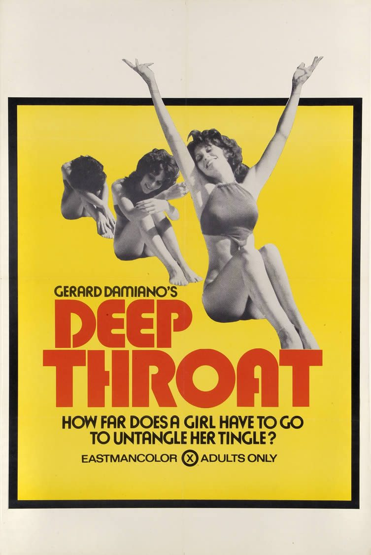 Deep Throat, starring Linda Lovelace, Harry Reems and Dolly Sharp. Directed by Gerard Damiano, 1972