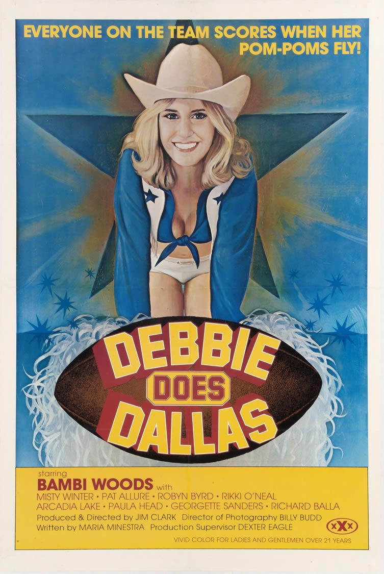 Debbie Does Dallas, starring Bambi Woods, Christie Ford and Robert Kerman. Directed by Jim Buckley, 1978