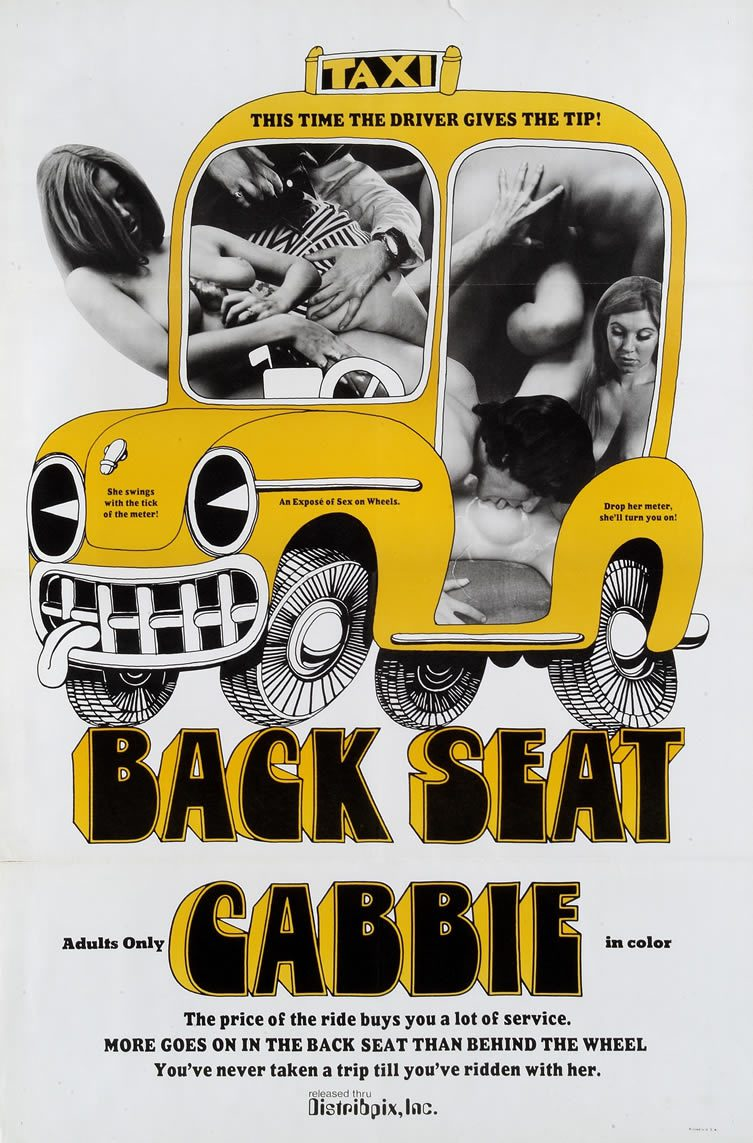 Back Seat Cabbie, starring Margaret Leigh and Janet Topaz. Directed by C. Walsh, 1969