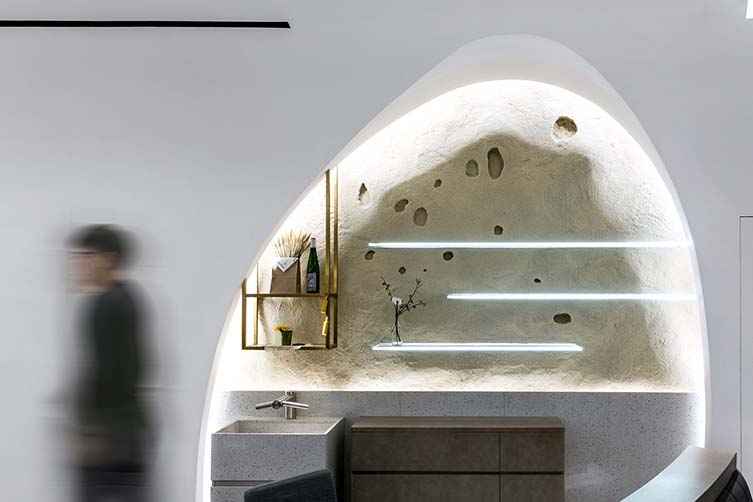 Perma Cave Bakery by Minyi Zhang, Yingcong Ho and Ven Lu, Winner in Interior Space and Exhibition Design Category