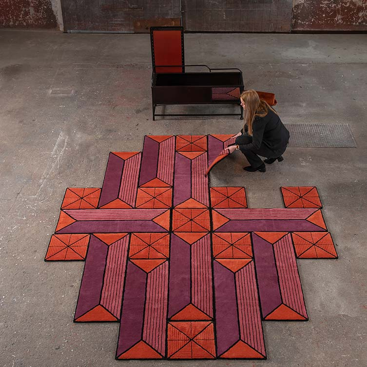 Astron Shape Shifting Rug Shape Shifting Rug by Ingrid Kulper is Winner in Furniture, Decorative Items and Homeware Design Category, 2018 - 2019.