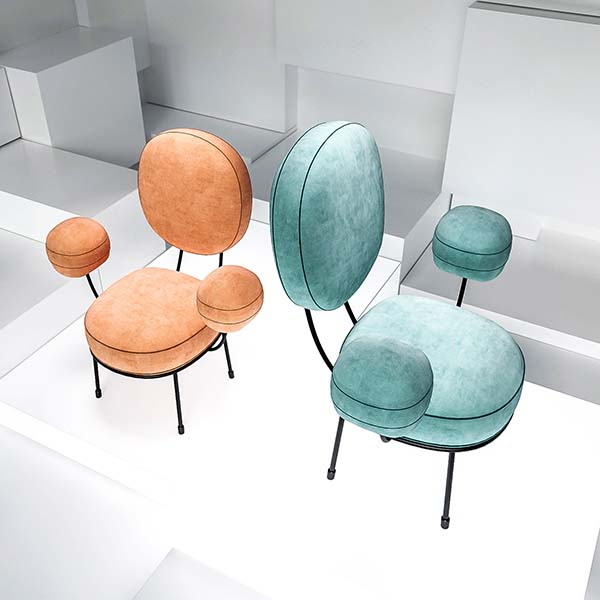 Lollipop Armchair by Natalia Komarova is Winner in Furniture, Decorative Items and Homeware Design Category, 2018 - 2019.