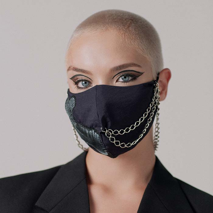 Chained Mask by Noelle Ulian De Freitas is Winner in Limited Edition and Custom Design Category, 2020 - 2021.
