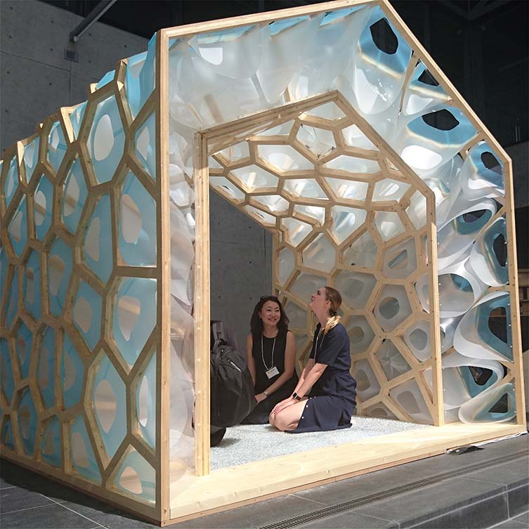 Porous Manifold Japanese Tearoom by Ryumei Fujiki and Yukiko Sato is Winner in Arts, Crafts and Ready-Made Design Category, 2018 - 2019.