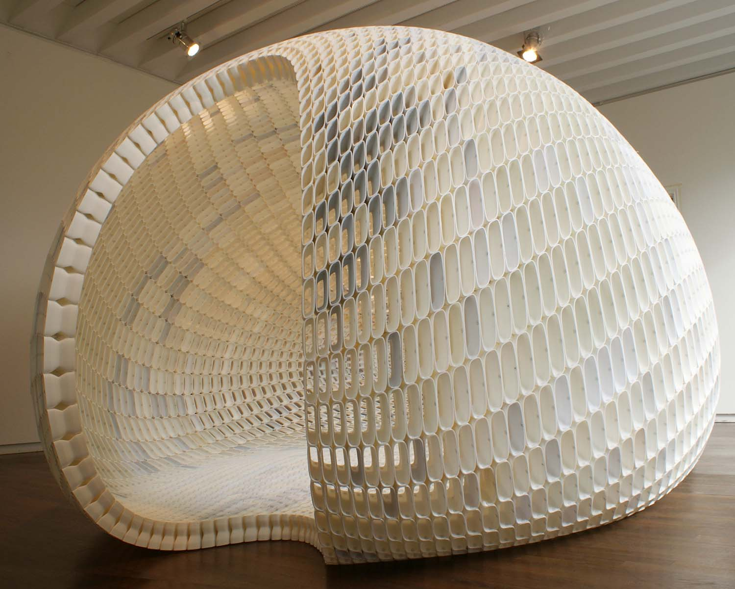 Project Egg Small Pavilion by Michiel Van Der Kley is Winner in 3D Printed Forms and Products Design Category, 2018 - 2019.