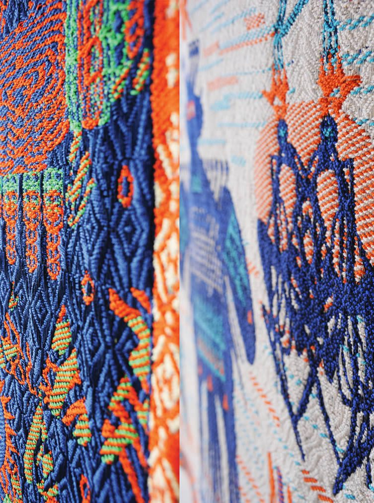 Sun and Night Textile by Aya Kawabata is Winner in Textile, Fabric, Textures, Patterns and Cloth Design Category, 2016 - 2017.