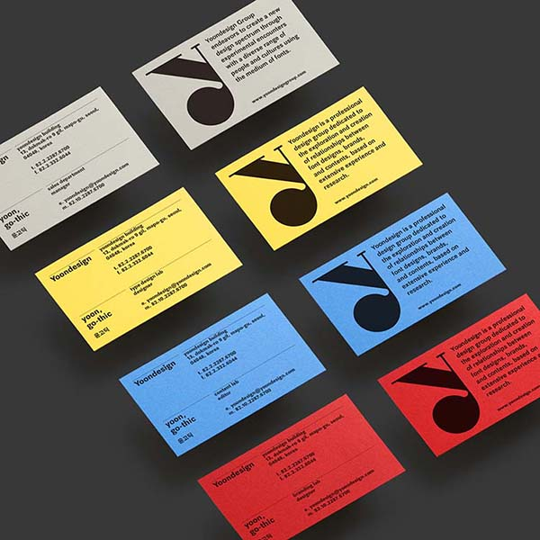Yoondesign Identity Brand Design by Sunghoon Kim and Chi-Young Choi