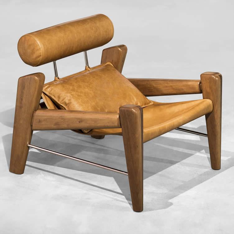 Serfa Plus Armchair and Footstool by Zanini De Zanine
