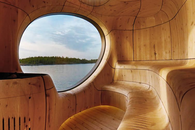 Grotto Sauna Freestanding Residential Sauna by Partisans
