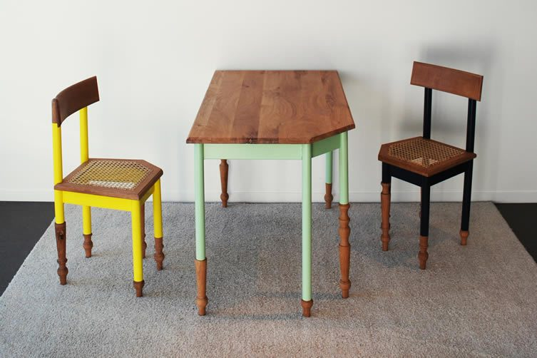 Hoek Af Table, Chairs by David Hoppenbrouwers