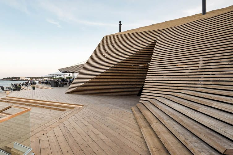 Loyly Public Sauna and Restaurant by Avanto Architects Ltd