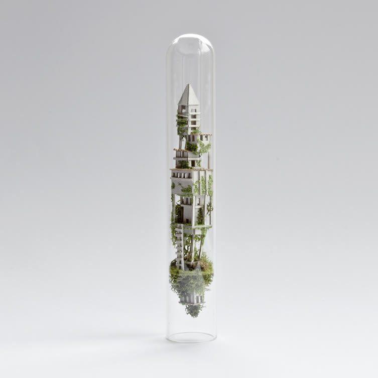 Micro Matter Miniature Sculptures in Test Tubes by Rosa de Jong