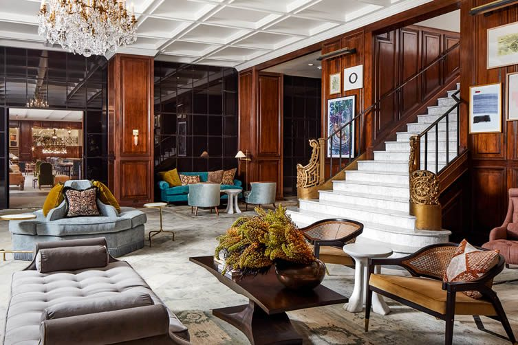 The Adolphus Hotel Dallas Design Hotel Redesign by Swoon Studio