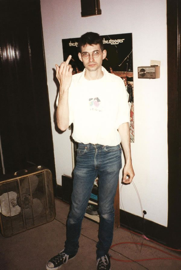 Steve Albini Photo by Bob Bert Chicago 1987