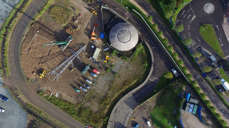 Drone photograph of site