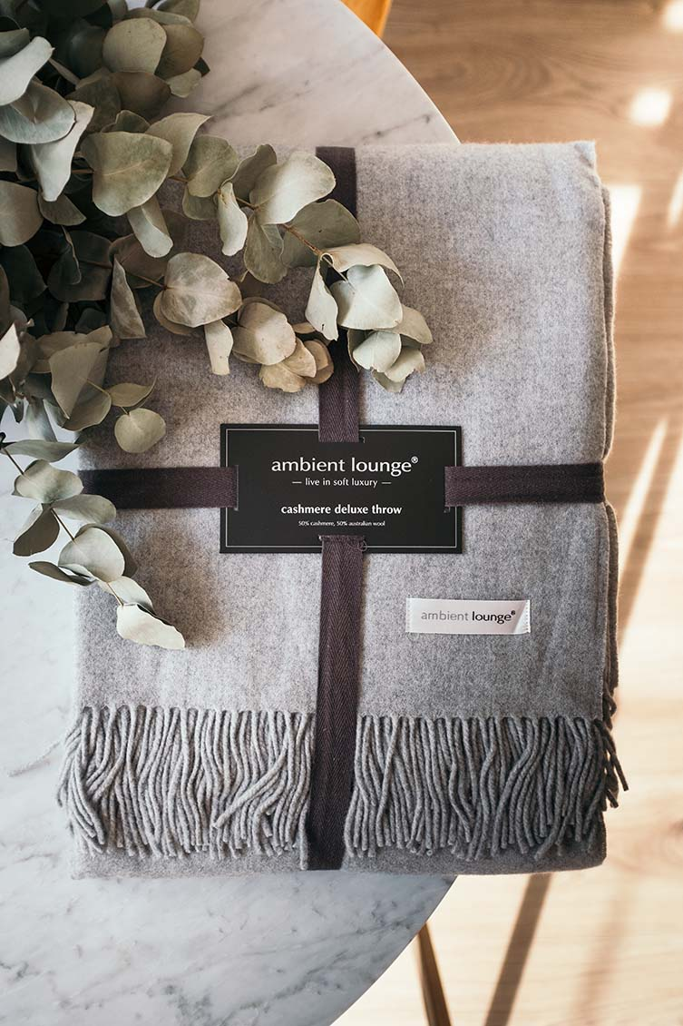 Ambient Lounge Luxury Throws, Merino Australian Wool and Cashmere Deluxe Throw