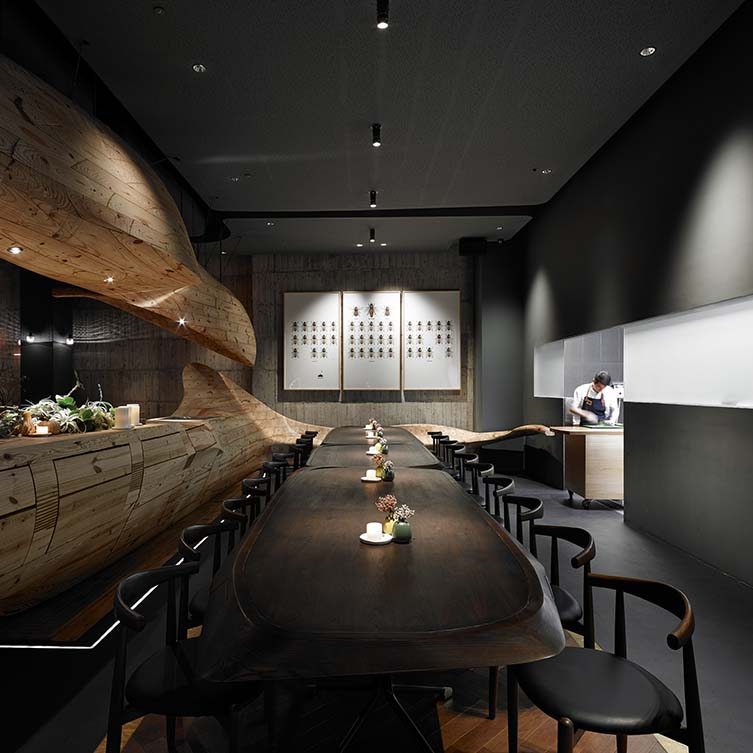 Raw Restaurant, Taipei Restaurant by Weijenberg Pte Ltd is Winner in Interior Space and Exhibition Design Category, 2014 - 2015.