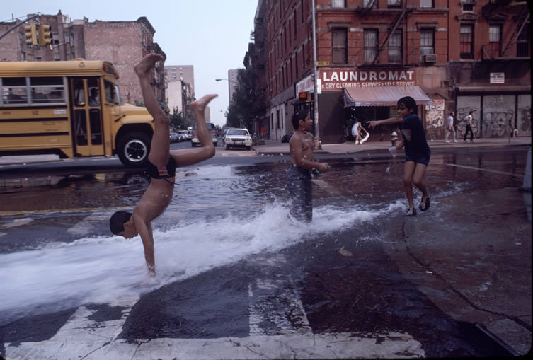 Cartwheels in Hydrant, from the book Bacalaitos & Fireworks
