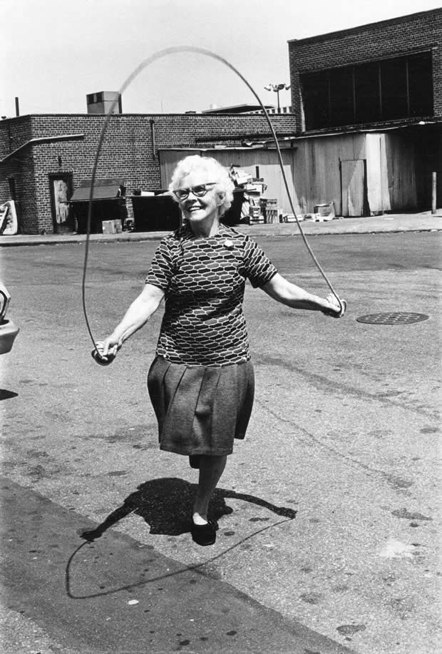 Isabel Croft jumping rope, Brooklyn, 1972