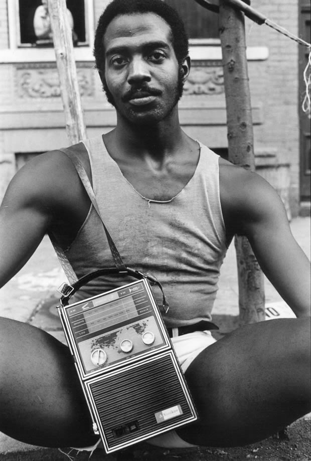 Guy with Radio, East 7th St, 1977