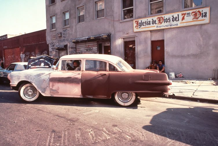 Buick on East 6th Street. 1985