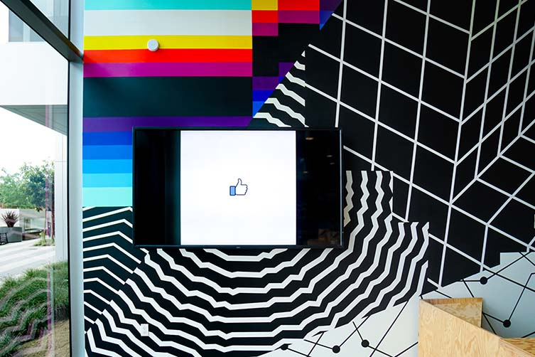 Felipe Pantone, Murals at Facebook HQ