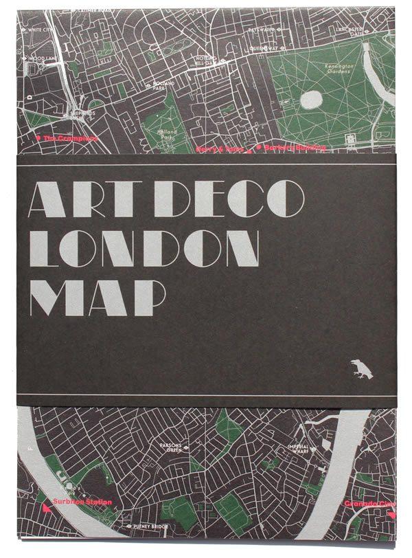 Art Deco London Map