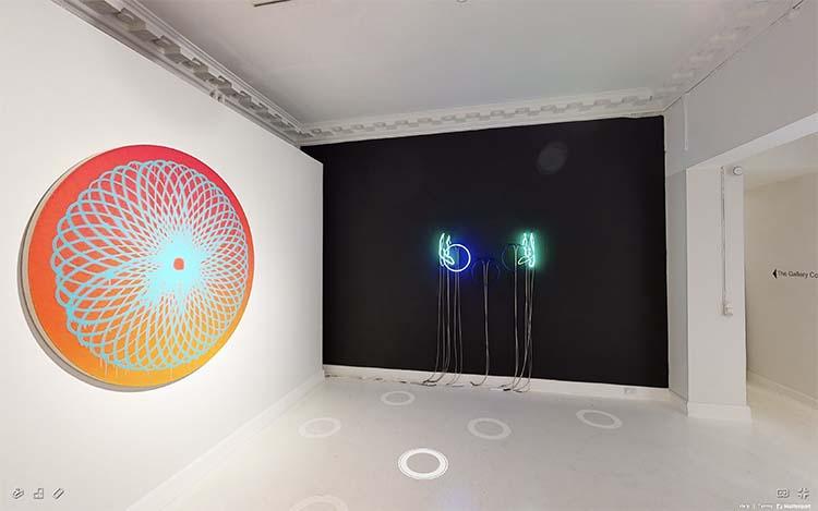 NEON group exhibition at Martin Asbæk Gallery, Copenhagen; as seen through Artland's 360° virtual exhibition
