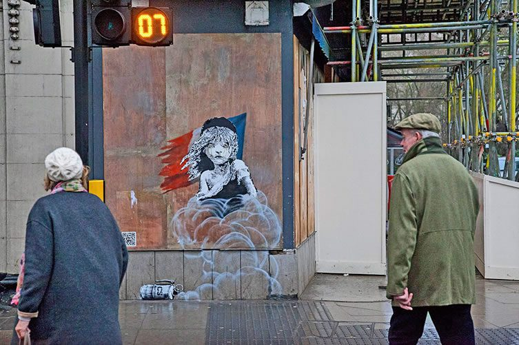 New Banksy Work Provokes London's French Embassy