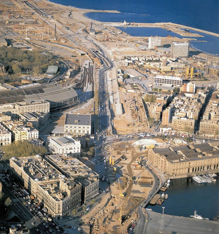 Images of Barcelona's waterfront pre-1992 Olympic construction