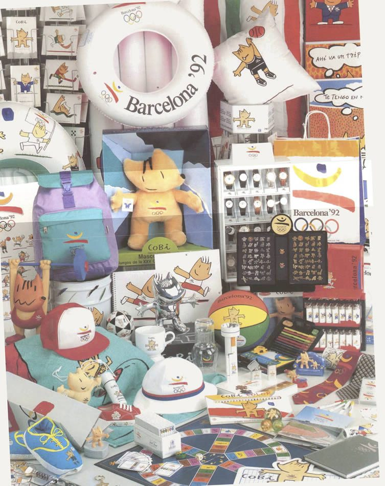 Original Cobi merchandise and promotional materials from 1992
