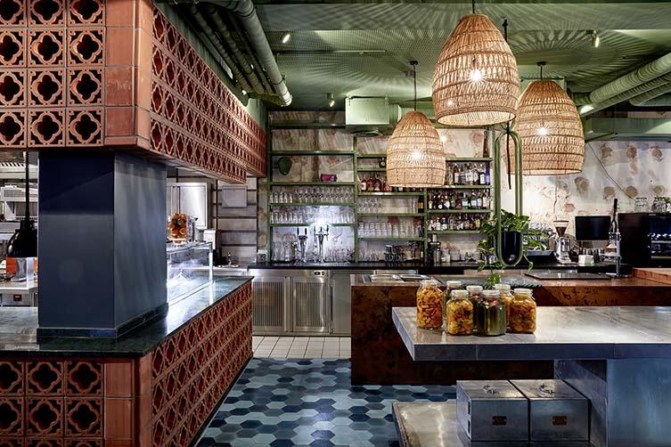 Bar Shuka Frankfurt, David and James Ardinast Restaurant at 25hours Hotel The Trip