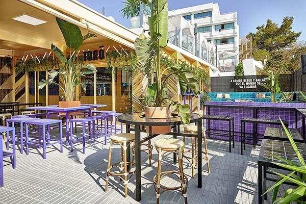 Bar TORÖ, Ibiza Sports Bar, Sant Antoni de Portmany, Designed by Masquespacio