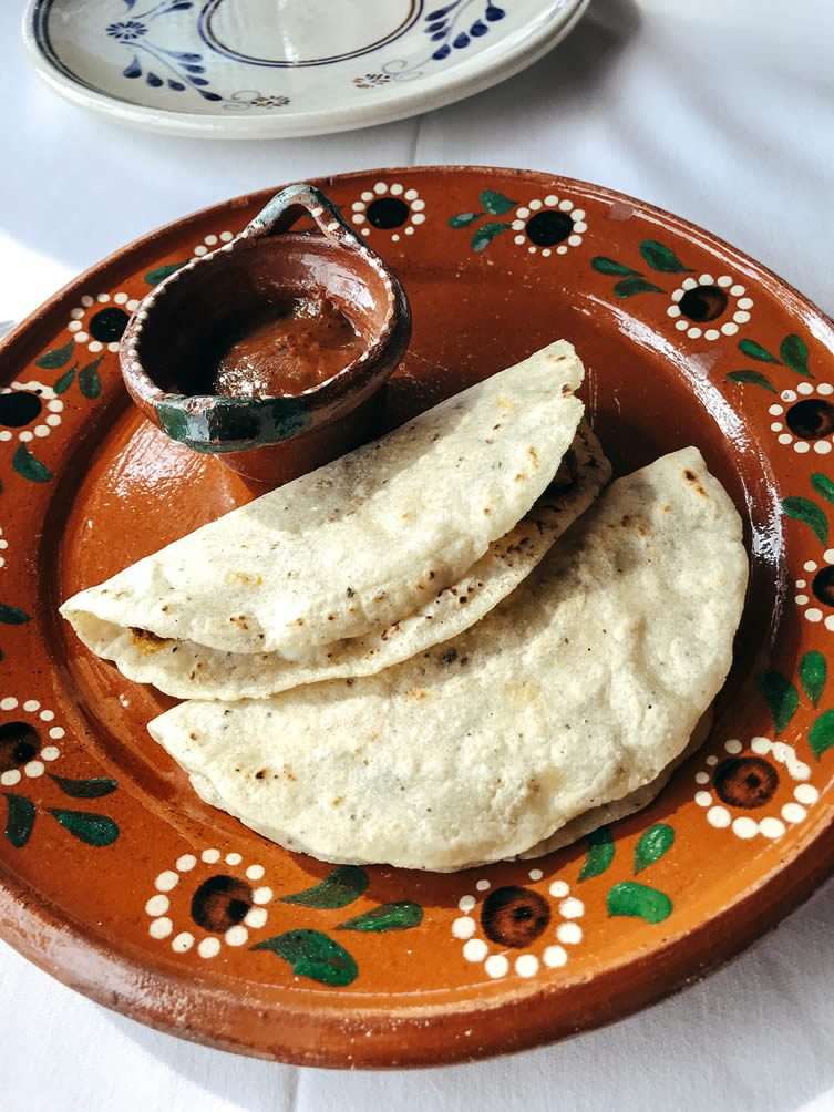 Tia Dalia, ready each morning to prepare her incredible homemade quesadillas at breakfast time