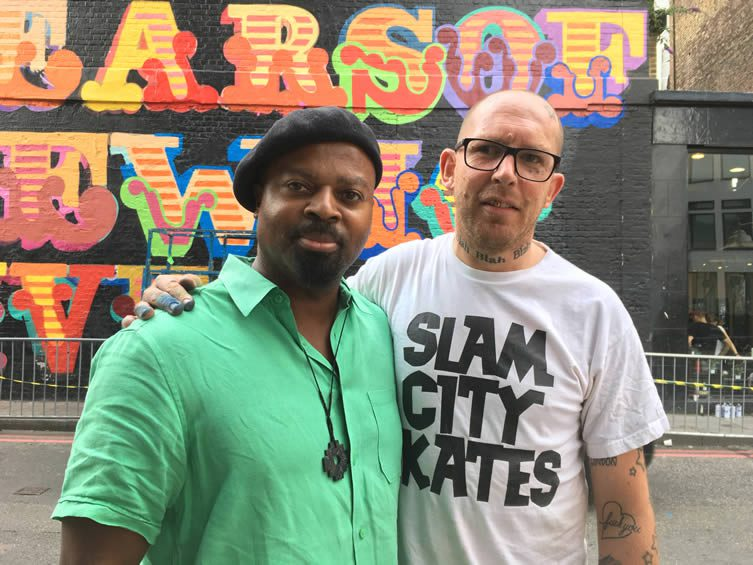Ben Eine and Ben Okri Grenfell Tower Mural