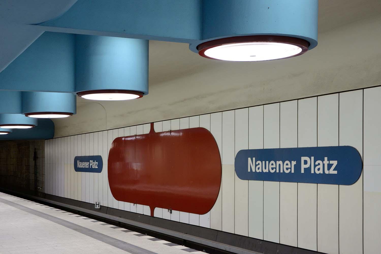 Berlin U-Bahn Architecture and Design Map: NAUENER PLATZ