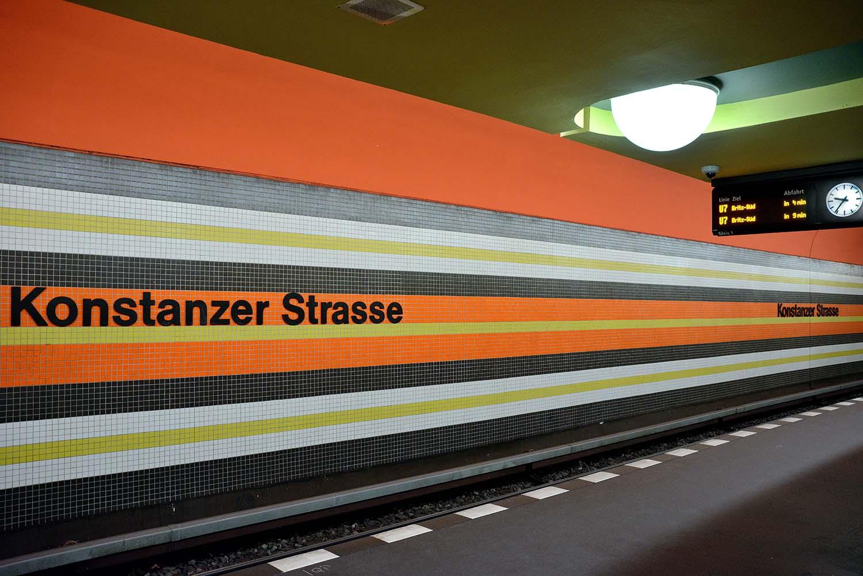 Berlin U-Bahn Architecture and Design Map: KONSTANZER STRASSE