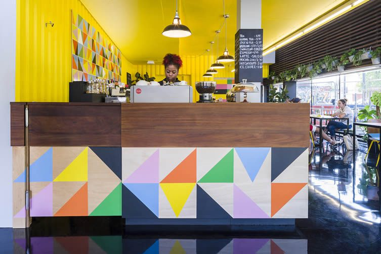 Bernie Grant Arts Centre Bar and Café by Morag Myerscough and Luke Morgan