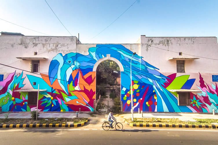 Bicicleta Sem Freio for Street Art India Foundation, Lodhi Colony New Delhi
