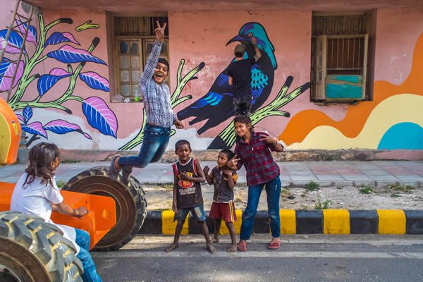 Bicicleta Sem Freio Street Art India Foundation, Lodhi Colony New Delhi