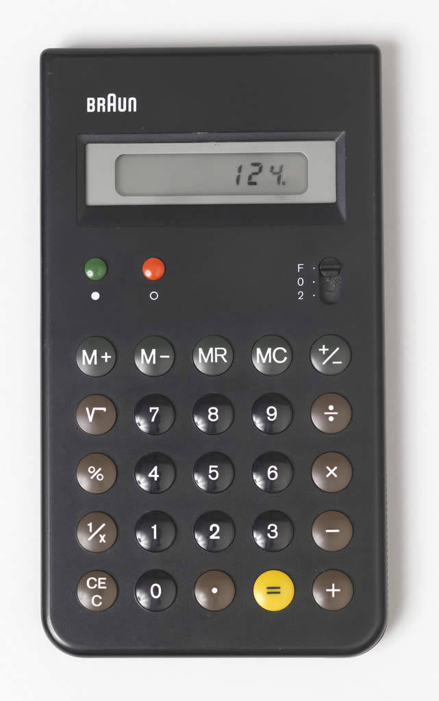ET55 Calculator, 1980 molded abs plastic