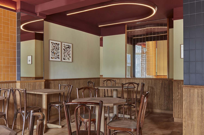 Bonnie Amsterdam Zuid, Vondelpark Bar Designed by Studio Modijefsky