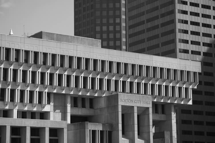 Brutalist Boston Map, Blue Crow Media
