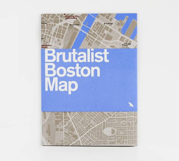 Brutalist Boston Map, Blue Crow Media with Chris Grimley, Michael Kubo, and Mark Pasnik