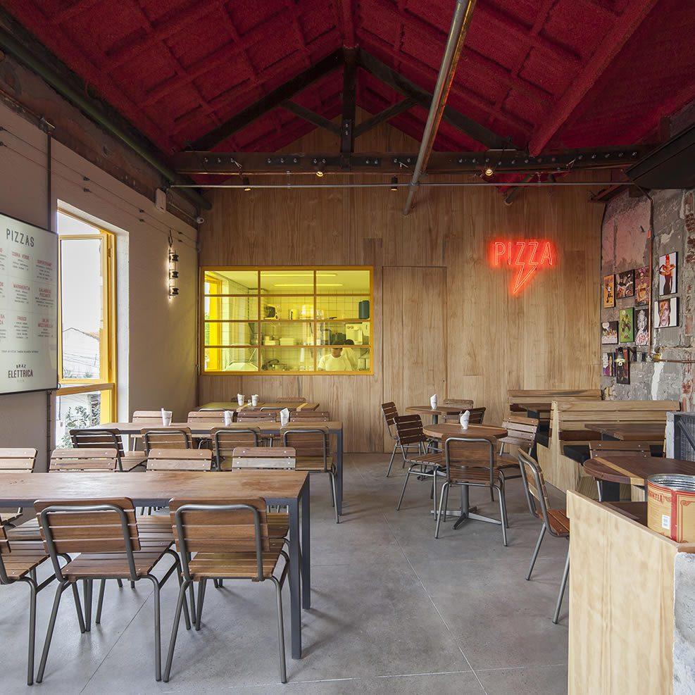 Bráz Elettrica São Paulo, Roberta's Bushwick Pizza, Designed by SuperLimão Studio