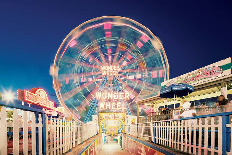Franck Bohbot Wonder Wheel, Coney Island, Brooklyn, NY, 2013: Brooklyn Photographs Now