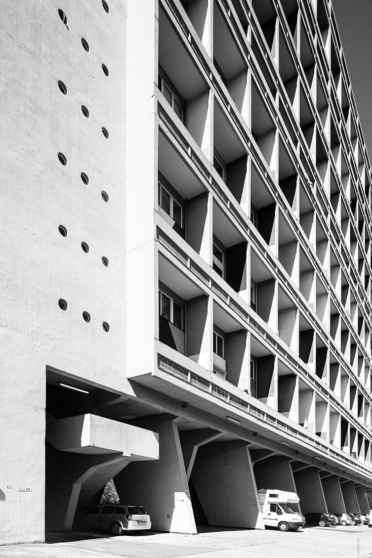 Brutalist Berlin: Corbusierhaus, Le Corbusier, 1956–58