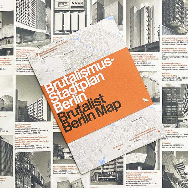 Brutalist Berlin Architecture Map, Blue Crow Media