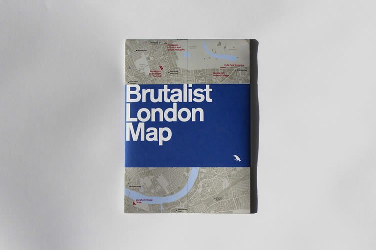 Brutalist London Map